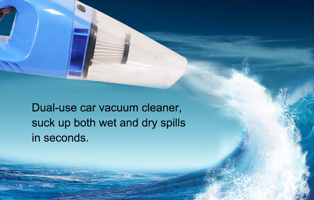 Portable High Power 120W Car Vacuum Cleaner Wet Dry Aspirador Dual-use Super Suction