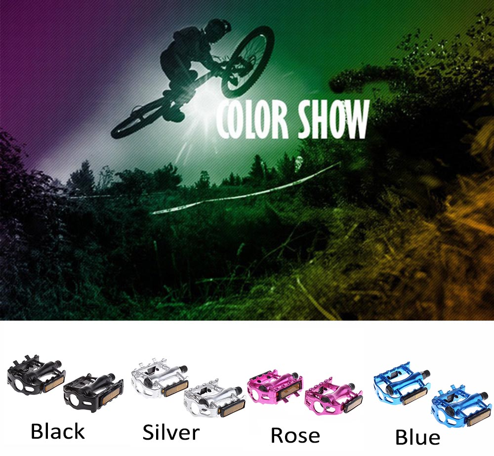Paired Aluminum Alloy Mountain Bike Pedal Fixed GearTreadle with Ball Bearing Bicycle Accessories