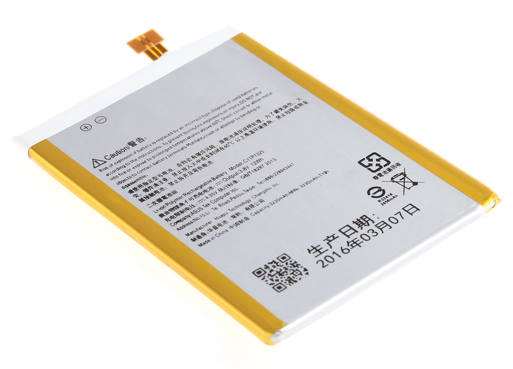 3.8V 12Wh 3330mAh C11P1325 Li-ion Polymer Battery for ASUS ZenFone 6
