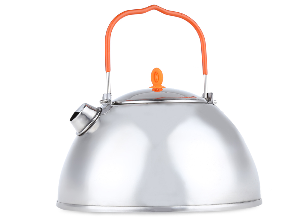 BRS - TS07 800ML Outdoor Camping Coffee Pot Teapot Stainless Steel Kettle