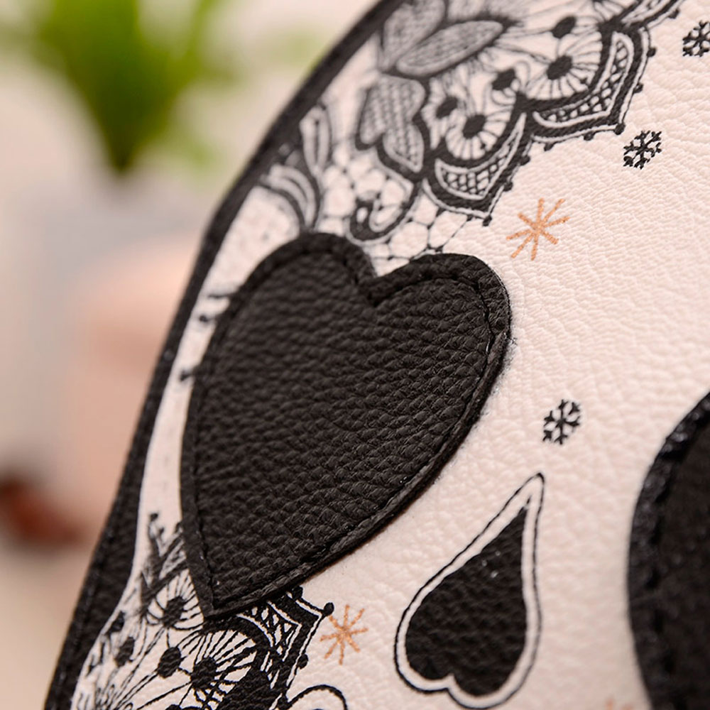 Women Skull Floral Heart Cat Zipper Head Mini Dual Purposes Shoulder Messenger Bag