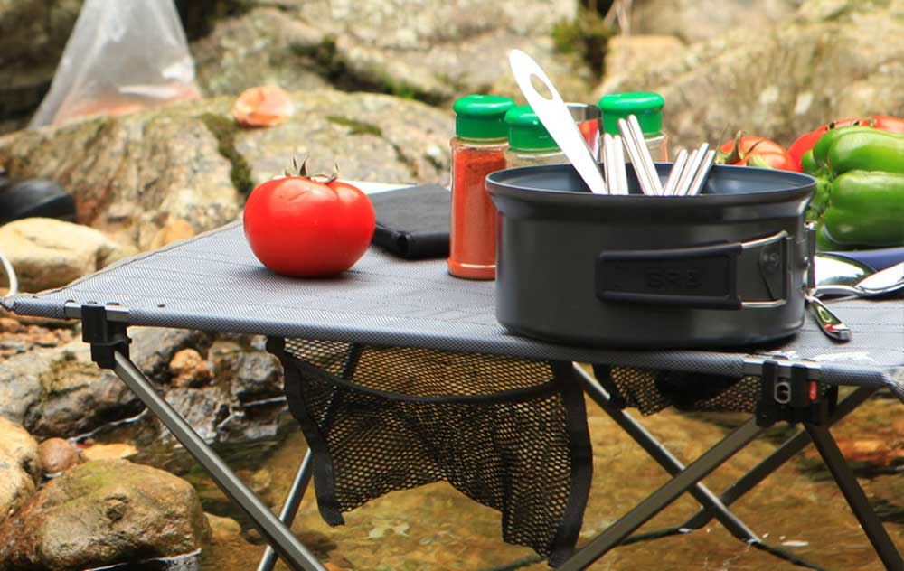 BRS - T03 3pcs / Set Portable Ultralight Folding Table Stools Outdoor Furniture for Picnic Camping Hiking