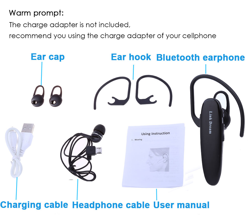 lc b40 wireless bluetooth v4 0 stereo earphone. Black Bedroom Furniture Sets. Home Design Ideas
