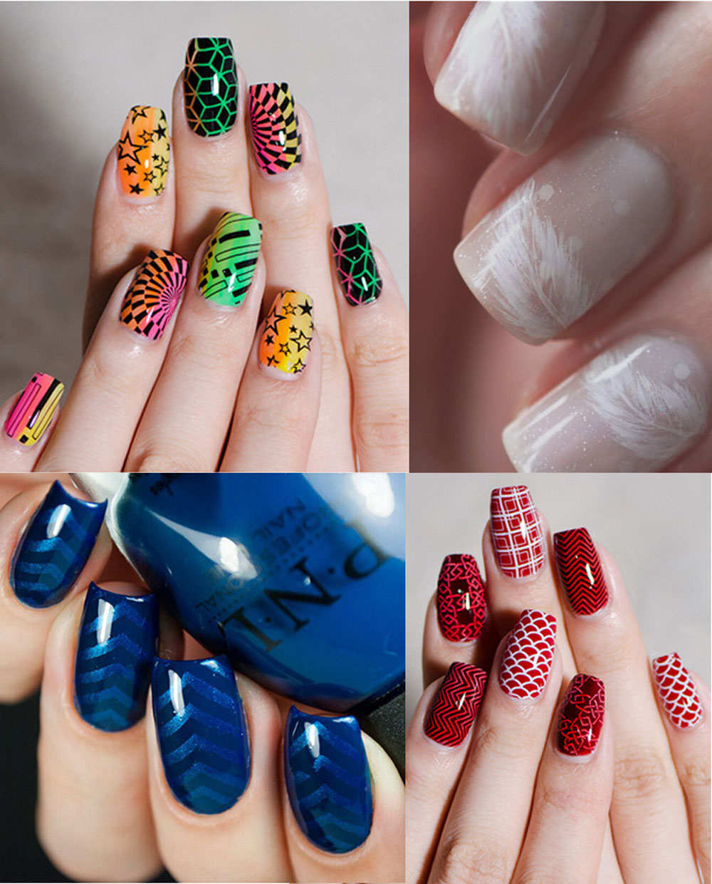 DIY Nail Manicure Print Template Stamping Image Transfer Tools