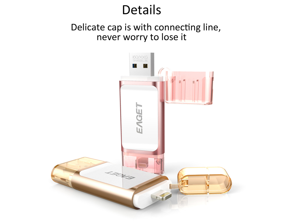 EAGET I60 128GB USB 3.0 OTG Flash Drive with Connector