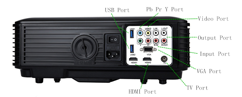 POWERFUL SV - 228 Home Theater 4000 Lumens 1280 × 800 Pixels Projector