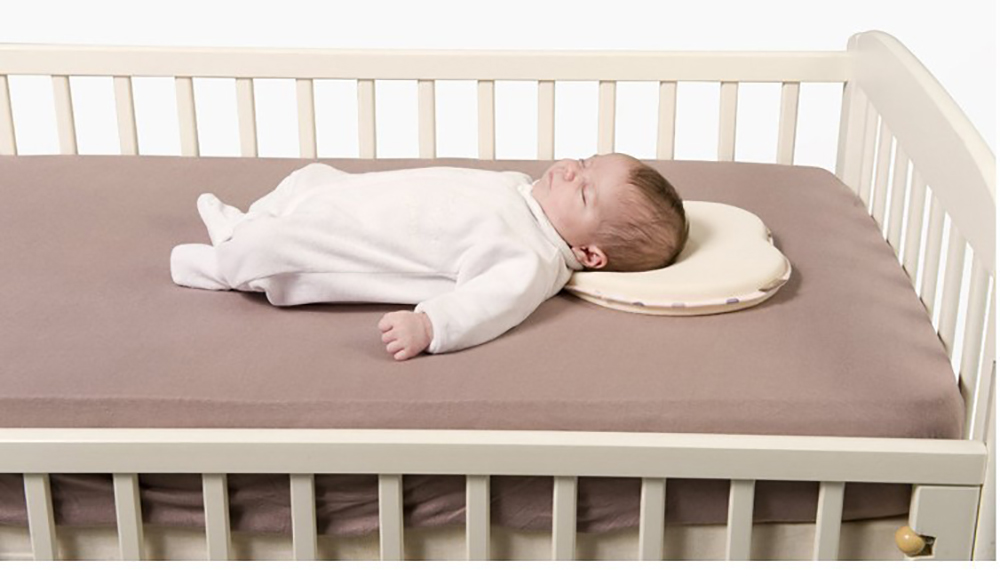 Cotton Newborn Babies Anti-roll Pillow for Correct Babies Sleeping Posture