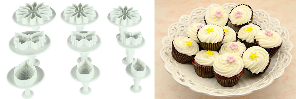 14 Sets Flower Fondant Cake Decorating Kit Cookie Mold Icing Plunger Cutter Tools