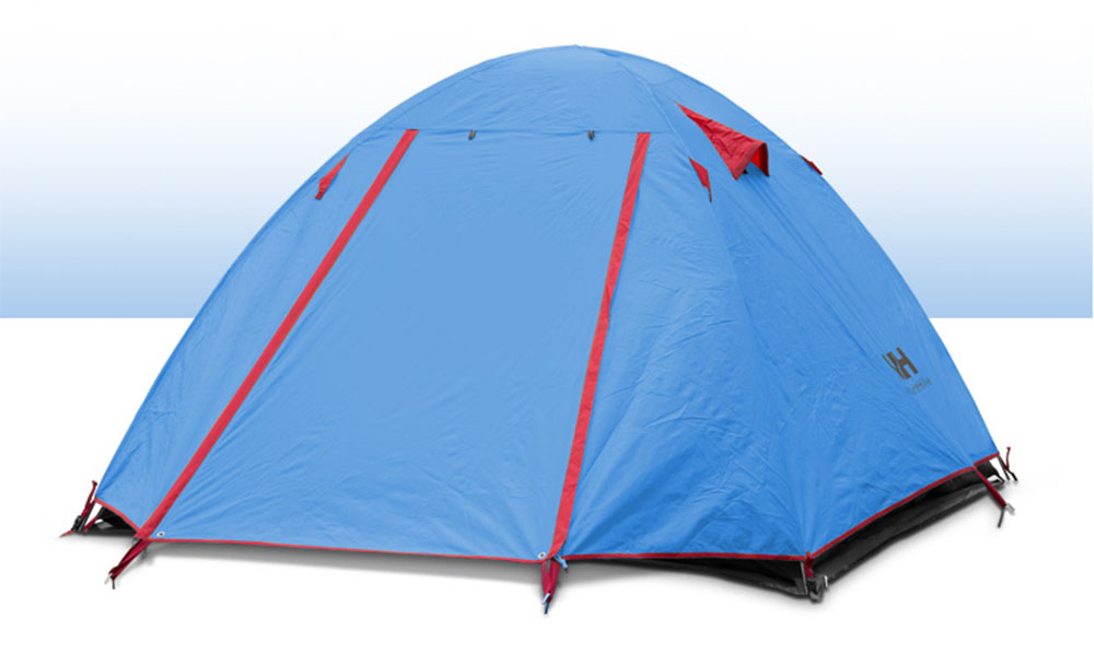 2 Person Outdoor Ultralight Camping Tent Kit Double Layer Aluminum Pole Rain-proof with Carry Bag for Travel Hunting Hiking