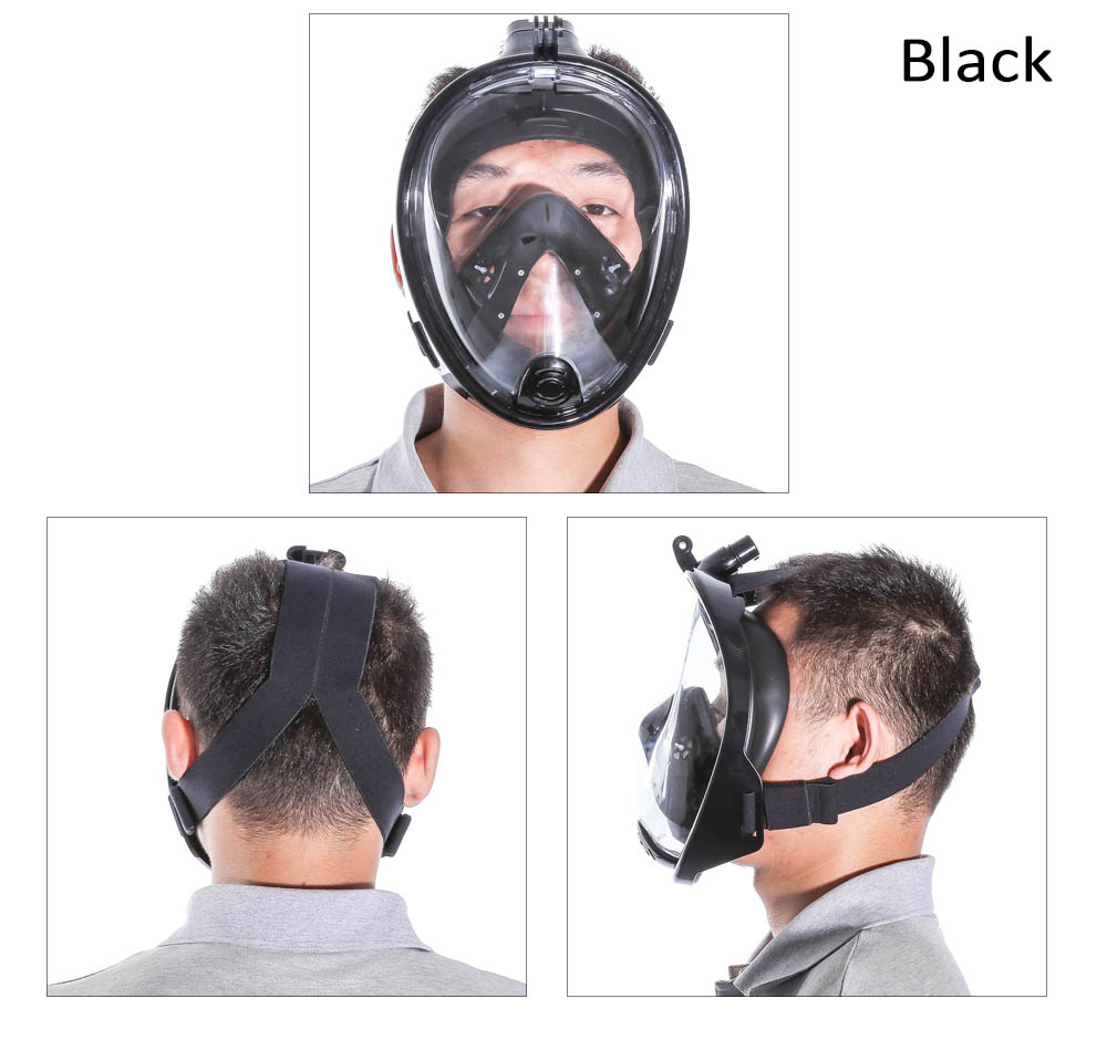 Underwater Diving Mask Snorkel Set Swimming Training Scuba Anti Fog for Gopro Camera
