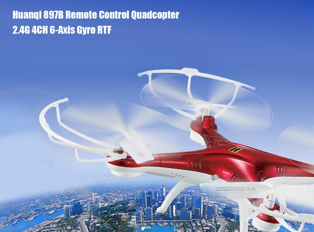 Huanqi 897B 2.4G 4CH 6-Axis Gyro RTF Remote Control Quadcopter Aircraft Toy