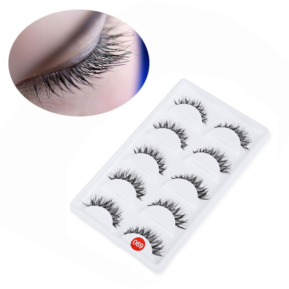 5 Pairs Hand Made Thick Crossover Design Professional Makeup Fake Eyelashes
