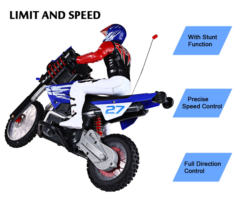 HUANQI 528 35MHz Motor Off-road High Speed Radio Control Motorcycle