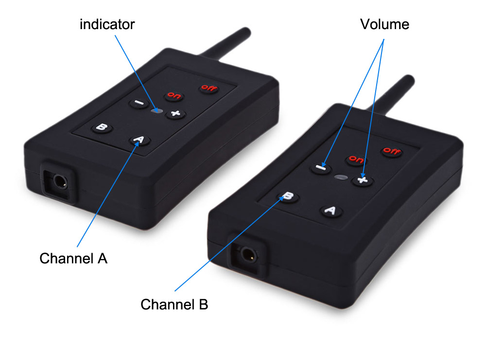 Paired FBIM Full Duplex Bluetooth Interphone Synchronous Intercom with Earphone Microphone