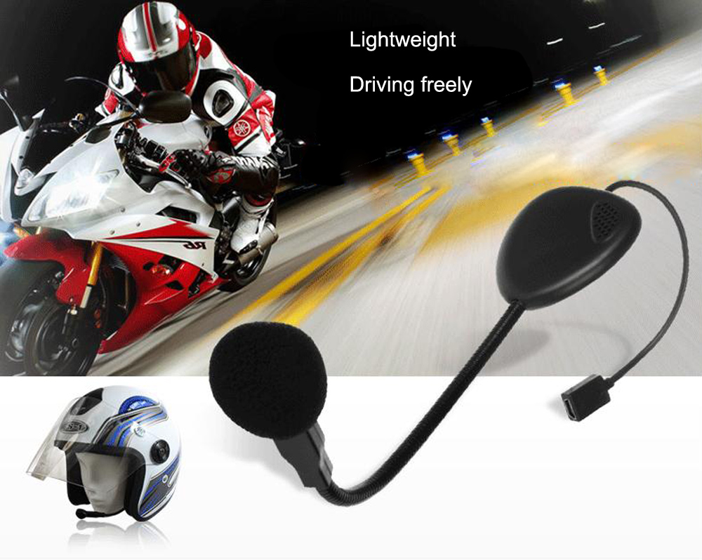 V1 - 1 Helmet Bluetooth Monaural Headset with Microphone for Motorcyclists Skiers
