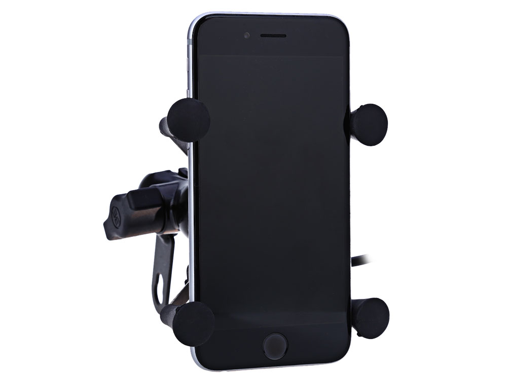 CS - 328 X Type Motorcycle Phone Holder USB Socket Power Outlet Charger