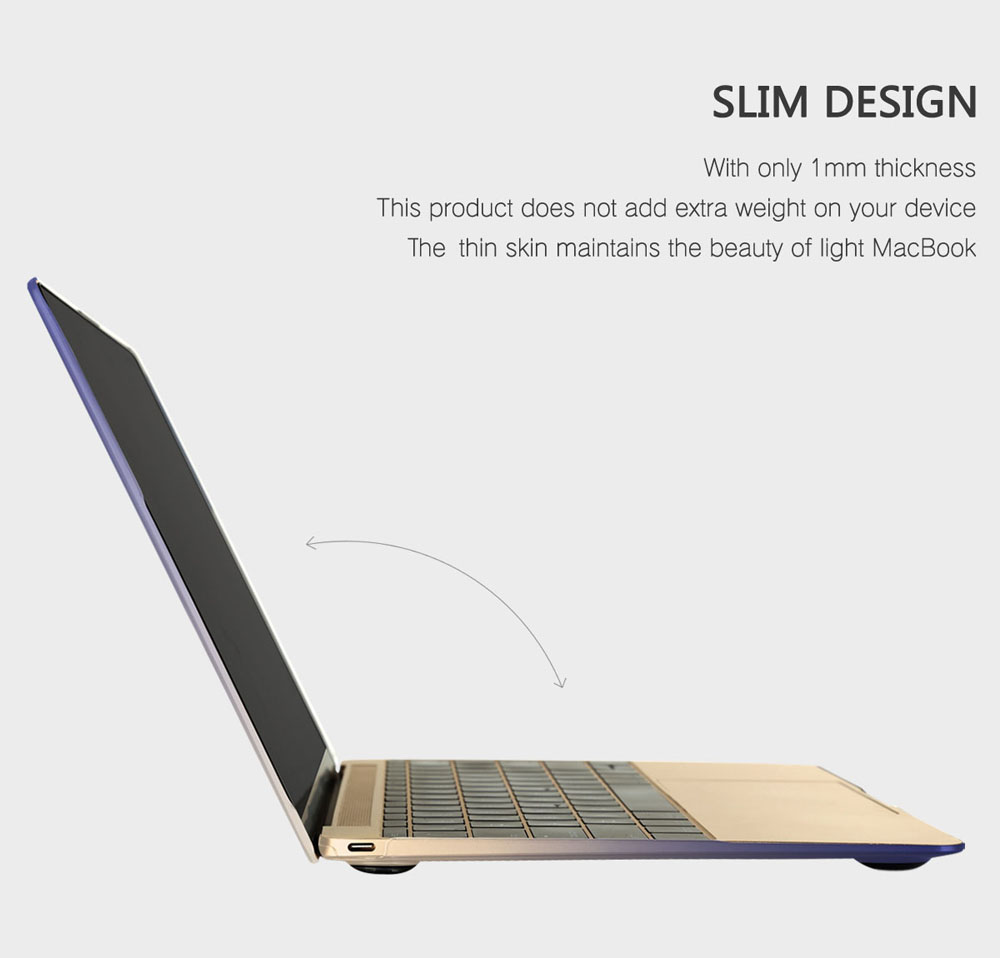 Baseus 12-Inch Ultra-thin Stylish Gradient Case for MacBook