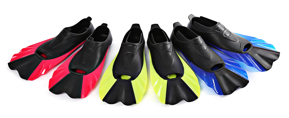 Paired Swimming Flippers Submersible Short Fins Snorkeling Shoes Diving Equipment