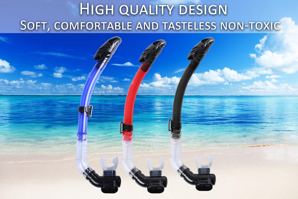CONQUEST High Quality Full Dry Silicone Diving Swimming Breathing Tube Snorkel