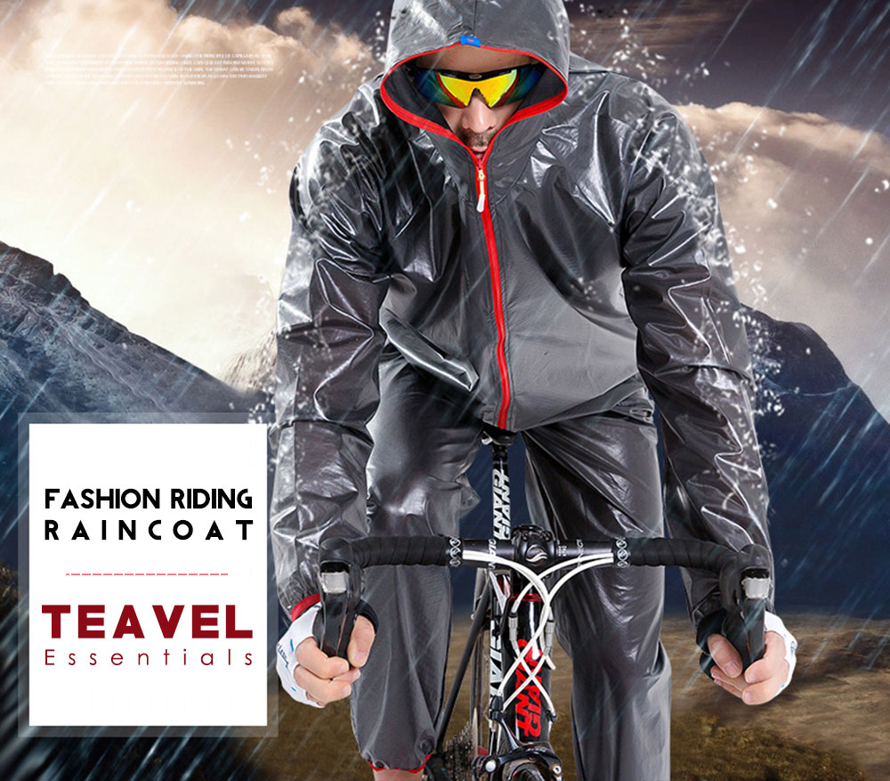 CYCLE ZONE Outdoor Water Resistant Raincoat for Biking Running Fishing Camping