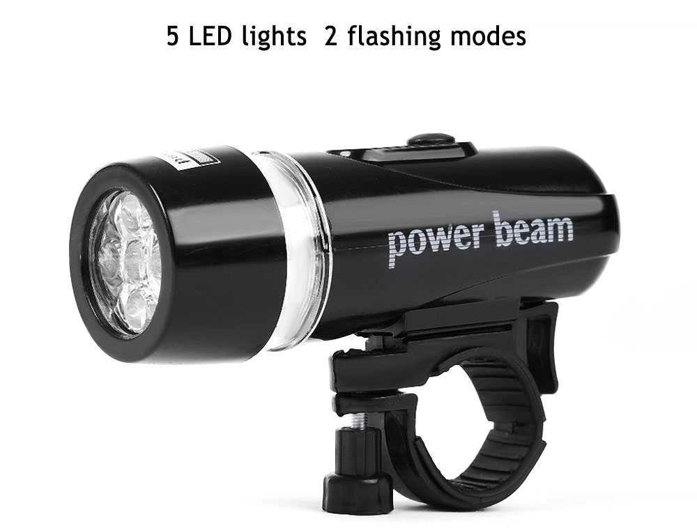 5 LED Bright Bicycle Front LED Light Lamp Torch Outdoor Tool