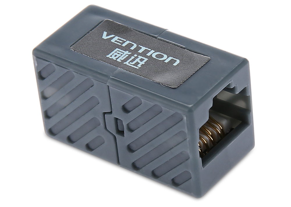 Vention Double-pass Straight Extender Head Cat6 RJ45 Cable Connector