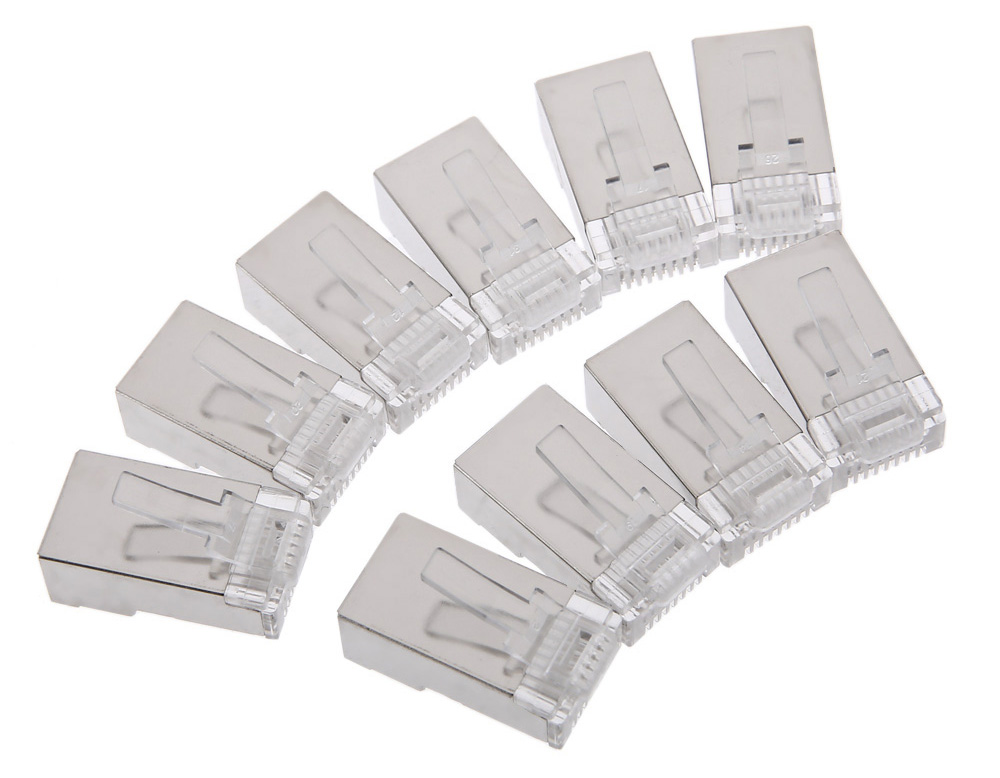 Vention 5F Version Cat5 RJ45 Crystal Head Shielded Modular Plug for Home Improvement Cable Network Information Module