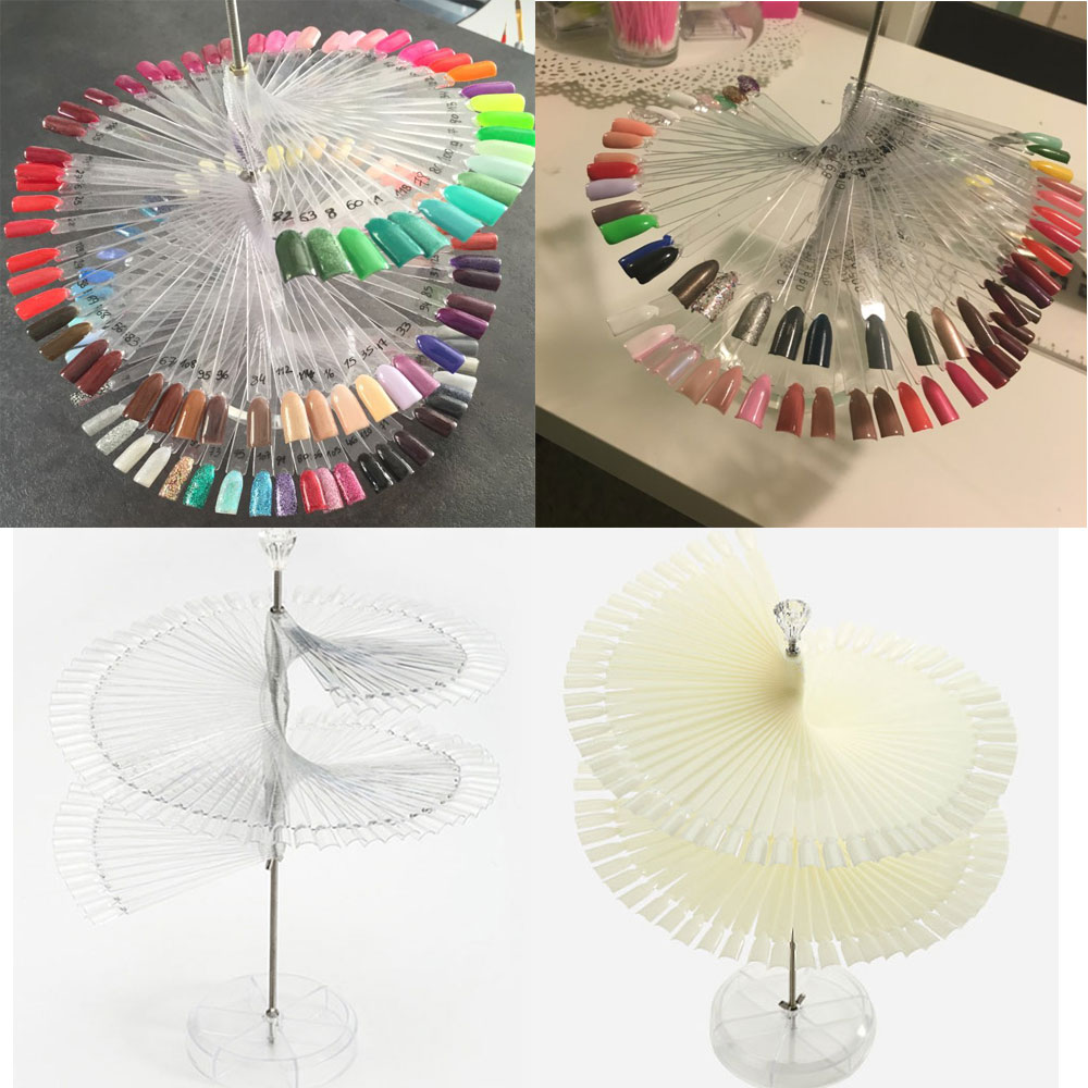 Professional 120 Stick Nail Art Large Stand Spiral Display Shelf Practice Tools