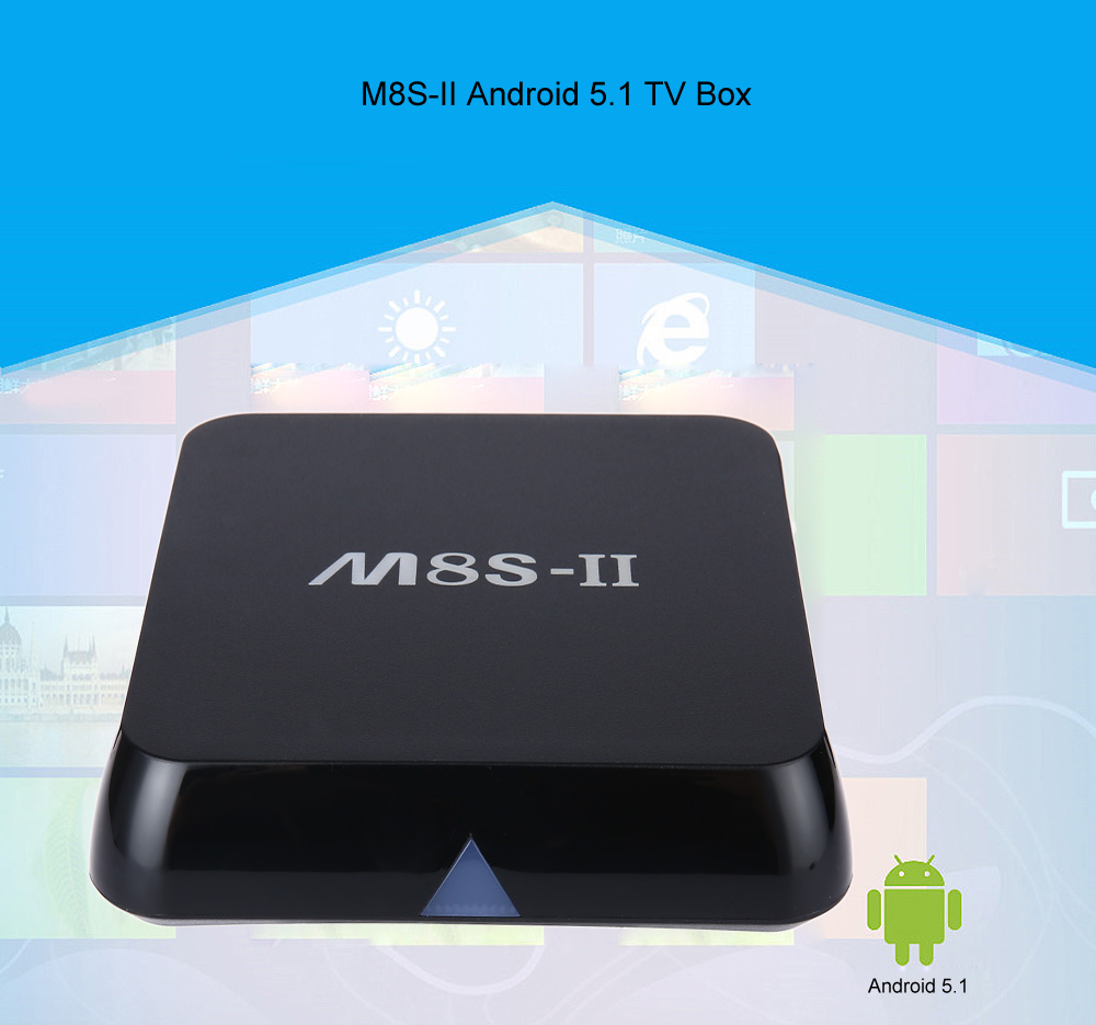 M8S - II TV Box Android 5.1 Amlogic S905 Quad-core 64-bit Cortex-A53 XBMC H.265 TV Player 2.4G 5G WiFi Bluetooth 4.0