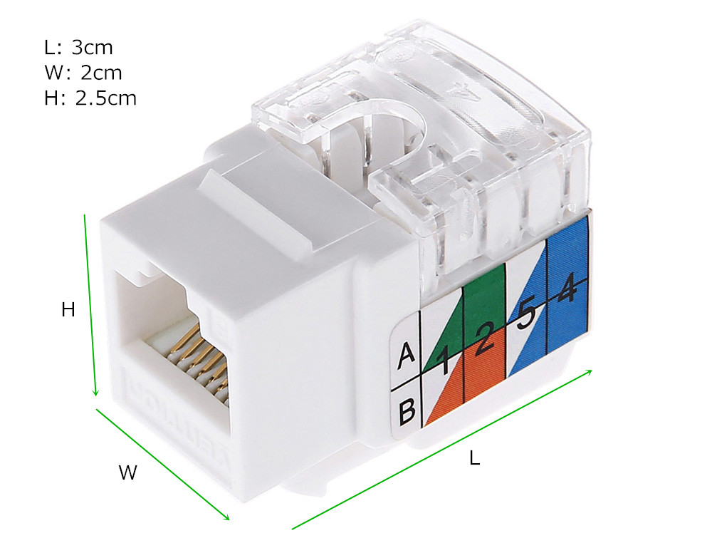 Vention VDD - B05 - W Category 5E Unshielded High-speed Transmission Ethernet Module