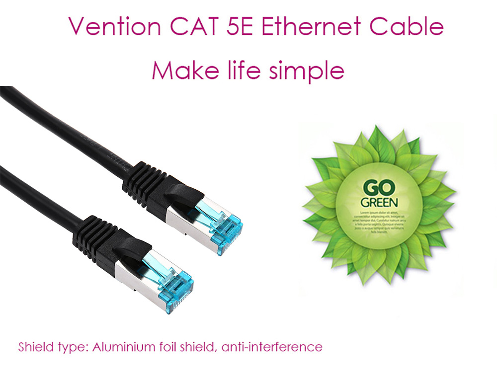 Vention VAP - B05 Category 5E Shielded High-speed Low Loss Ethernet Cable with Metal Plug