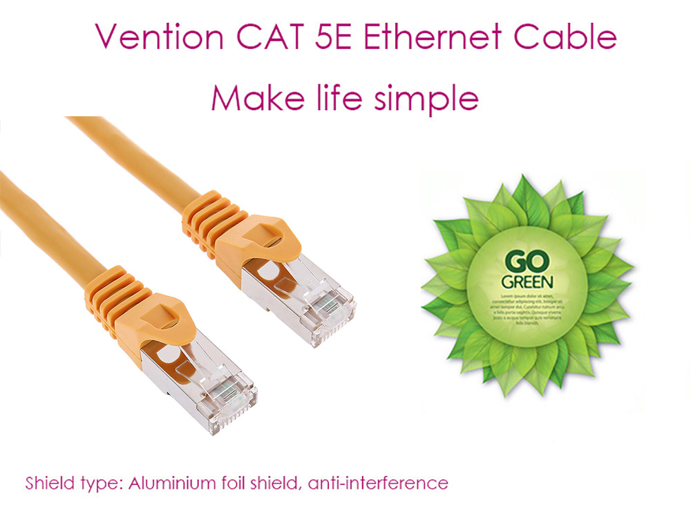 Vention VPC6SSTP Category 6A Shielded High-speed Low Loss Ethernet Cable with Metal Plug
