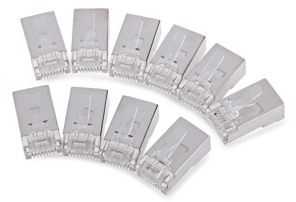 Vention 10pcs Cat6 RJ45 Crystal Head Modular Plugs for Stranded UTP Cable