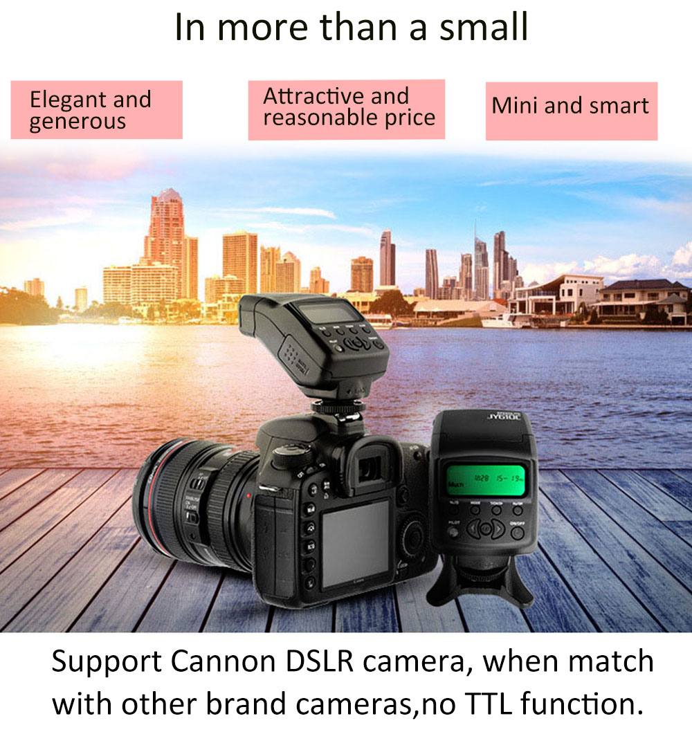 VILTROX JY - 610C TTL LCD Flash Speedlite Light for Canon 750D / 760D / 5DR / 5DRS / 60D 70D / 700D / 5D3 DSLR Camera