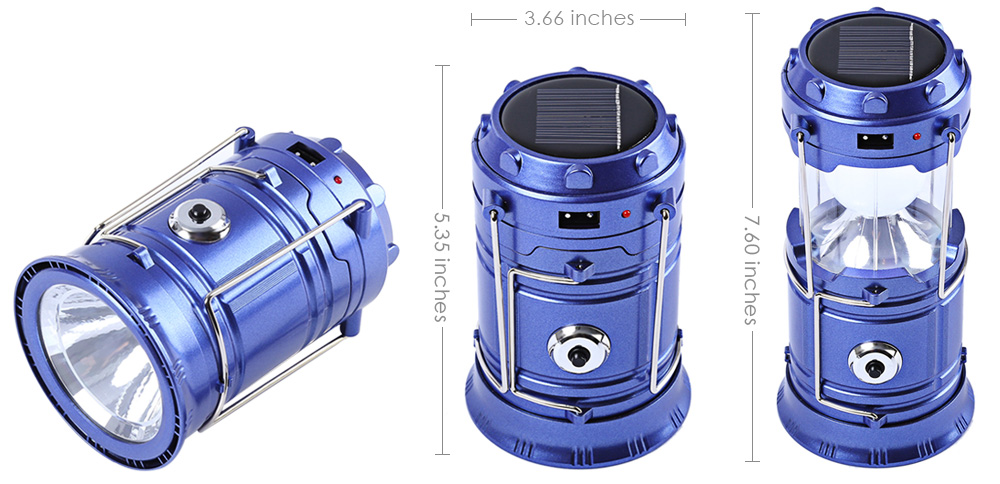 7-LED Stretchy Camping Lantern Torch Flashlight Lamp Emergency Tool