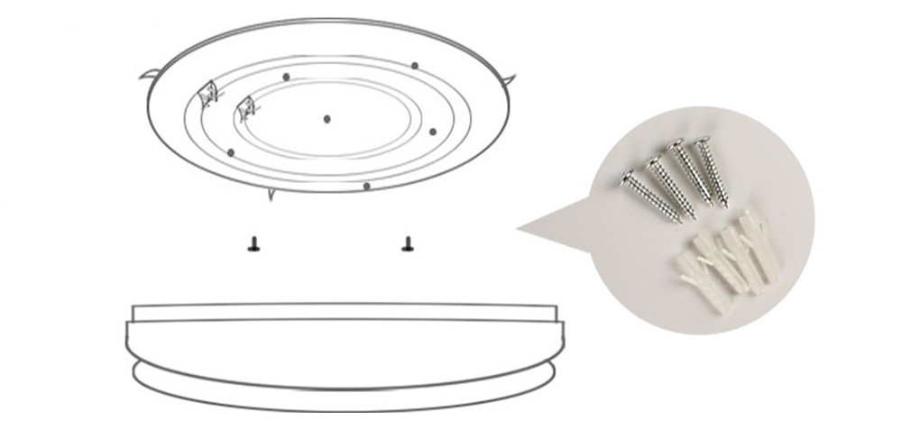 Round Double Side 12W LED Ceiling Light Bedroom Lamp