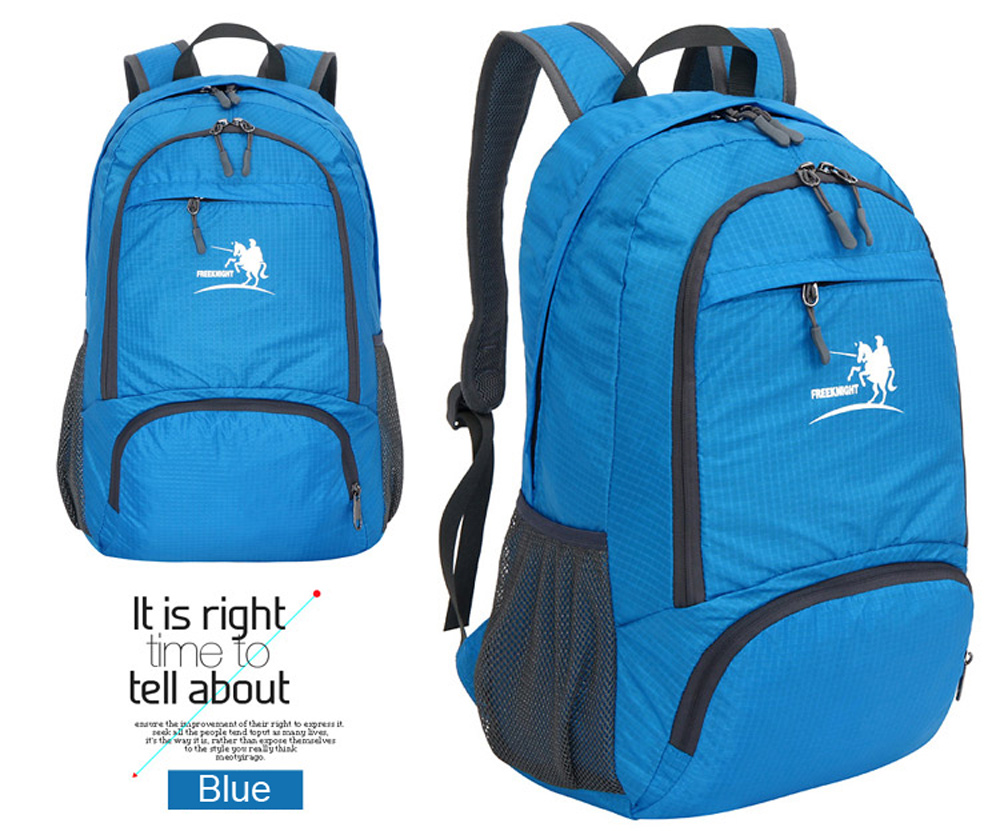 Free Knight FK0716 Nylon Folding Water Resistant Backpack Schoolbag for Camping Hiking Traveling Sports