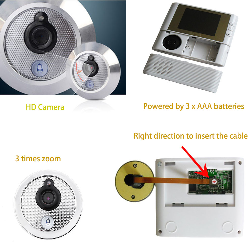806 2.8 inch LCD Digital Peephole Smart Door Viewer Home Security