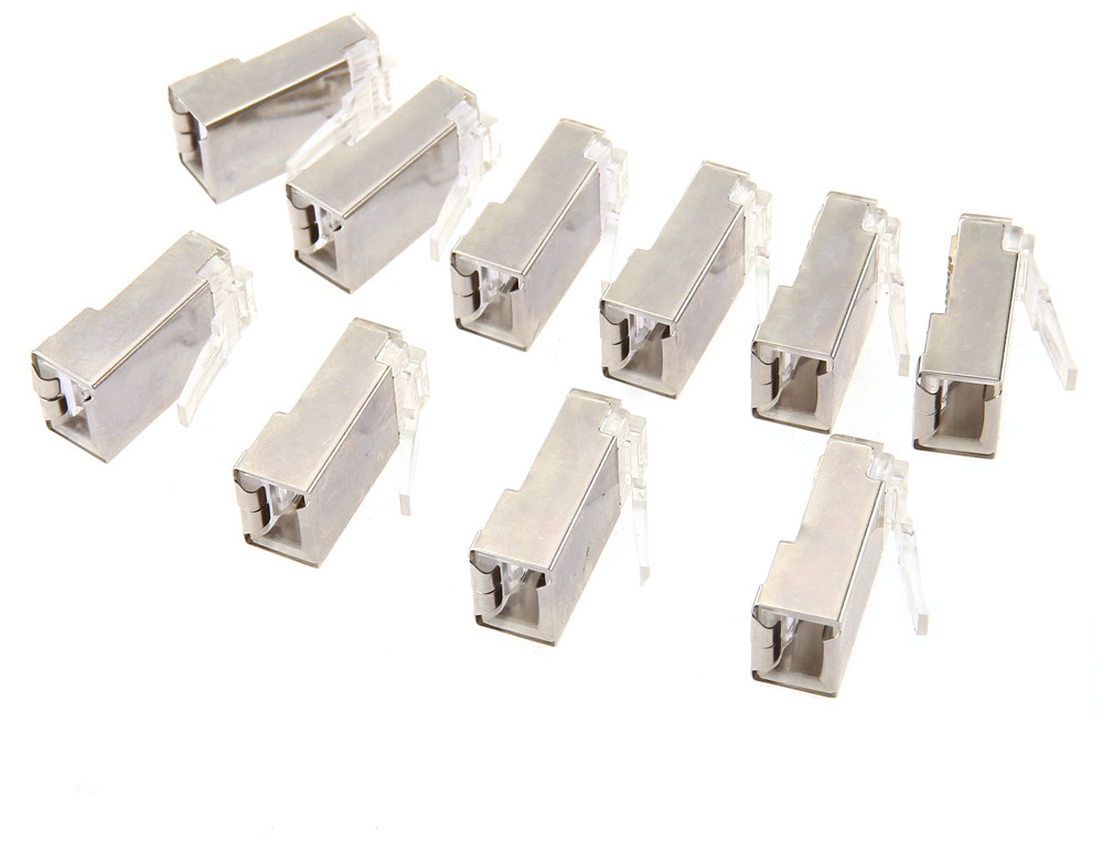 Vention 10pcs CAT6A RJ45 Crystal Head Modular Plugs for Stranded UTP Cable