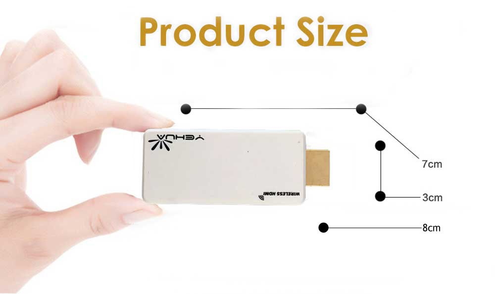 YEHUA C8 2.4G WiFi Miracast DLNA EZCast Airplay Display Adapter
