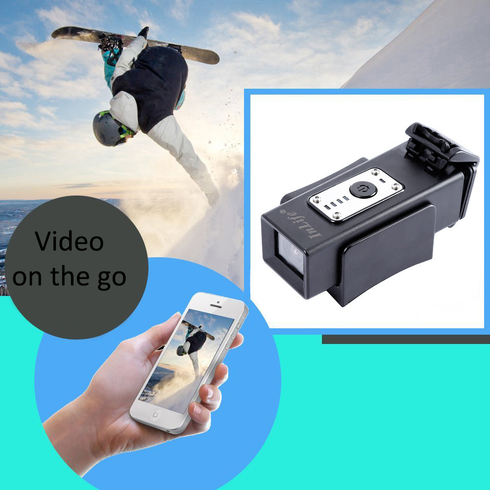 Inlife DV973 HD 1080P Sports Action Camera 30M Water Resistant 120 Degree Wide Angle
