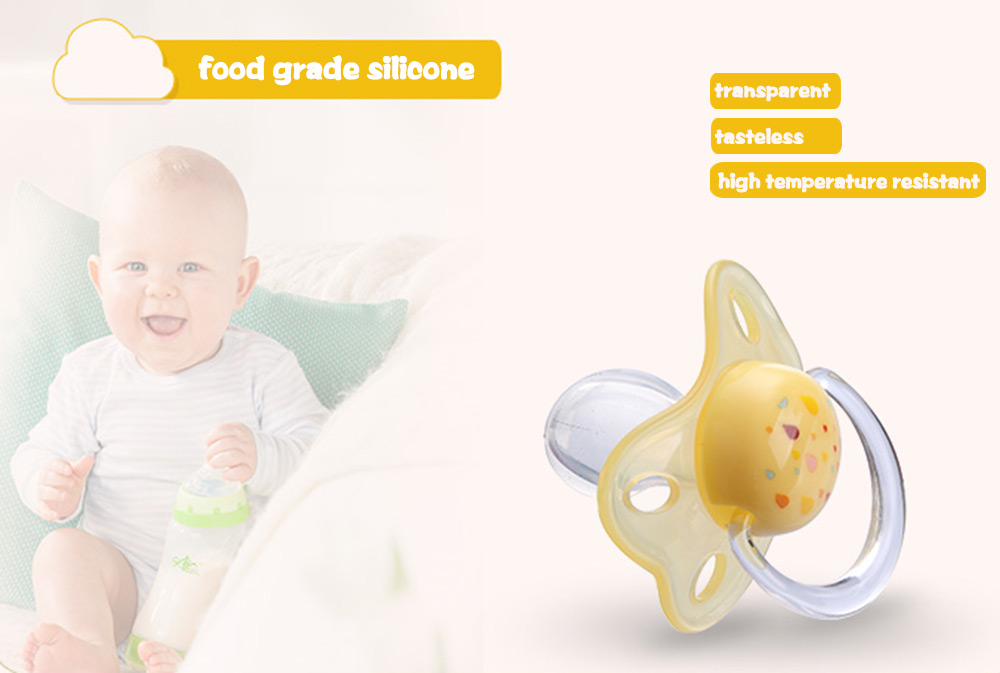 Rikang Size M Cute Portable BPA Free Babies Silicone Pacifier