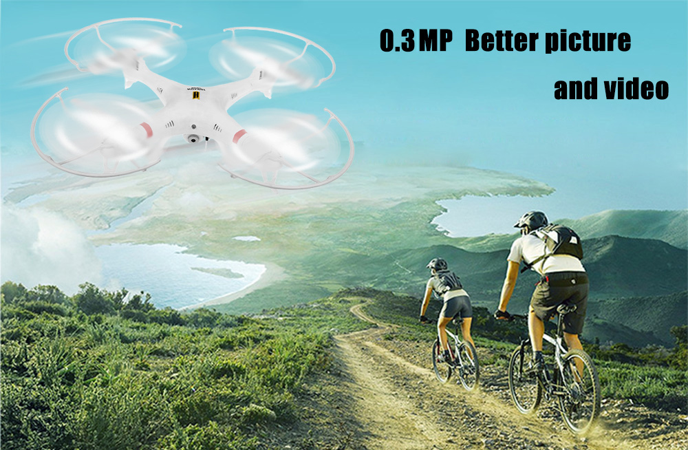 Huanqi 898C001 WiFi FPV 0.3MP Camera  2.4G 4CH 6-Axis Gyro RTF Remote Control Quadcopter