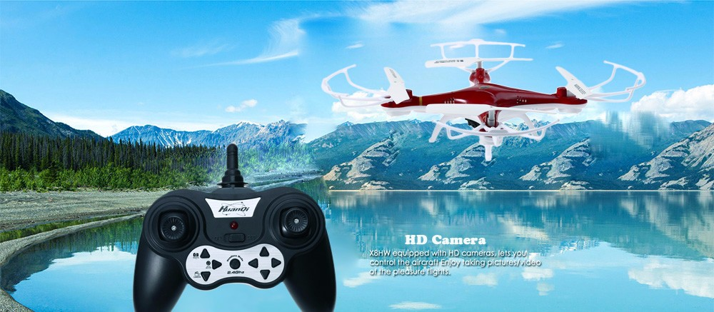 Huanqi 897B002 2.4G 4CH 6-Axis Gyro 1.0MP Camera RTF Remote Control Quadcopter Toy