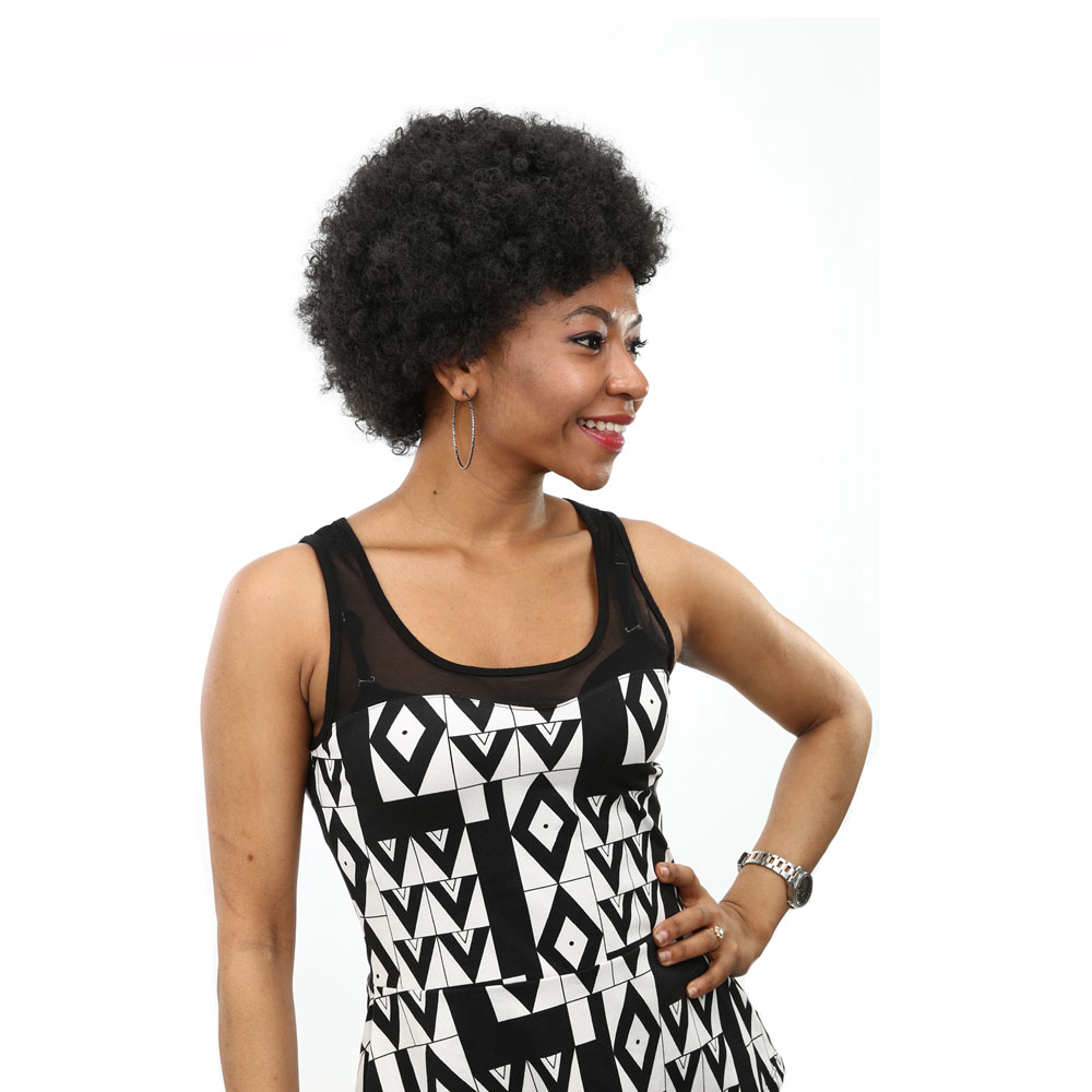 Wig Hair Average Short Curly Synthetic Chemical Fiber Black Afro
