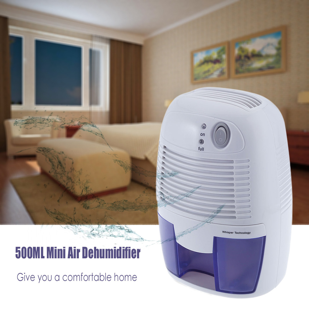 23W 500ML Portable Mini Dehumidifier Electric Quiet Air Dryer for Home Bathroom