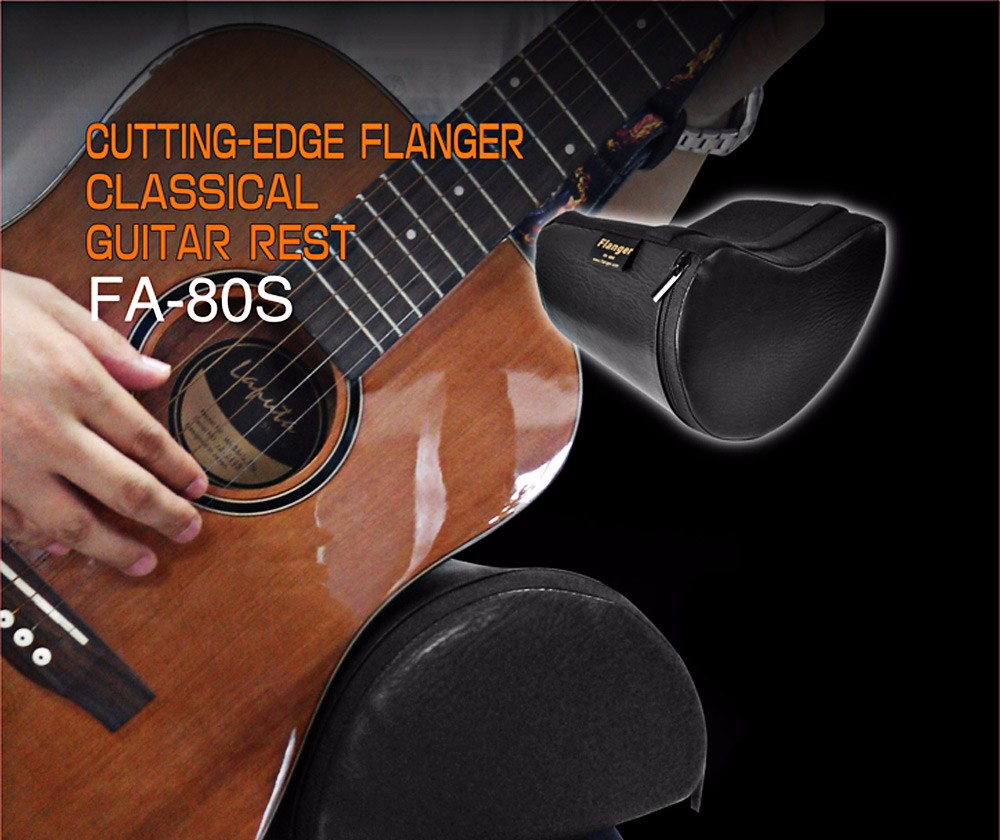 Flanger FA - 80S Contoured PU Leather Guitar Rest Musical Instrument Accessory