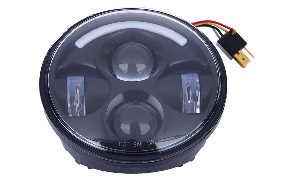OL - H57501 10 - 30V 40W 5.75 Inch LED Round Harley Headlights Distance Light for Jeep Wrangler