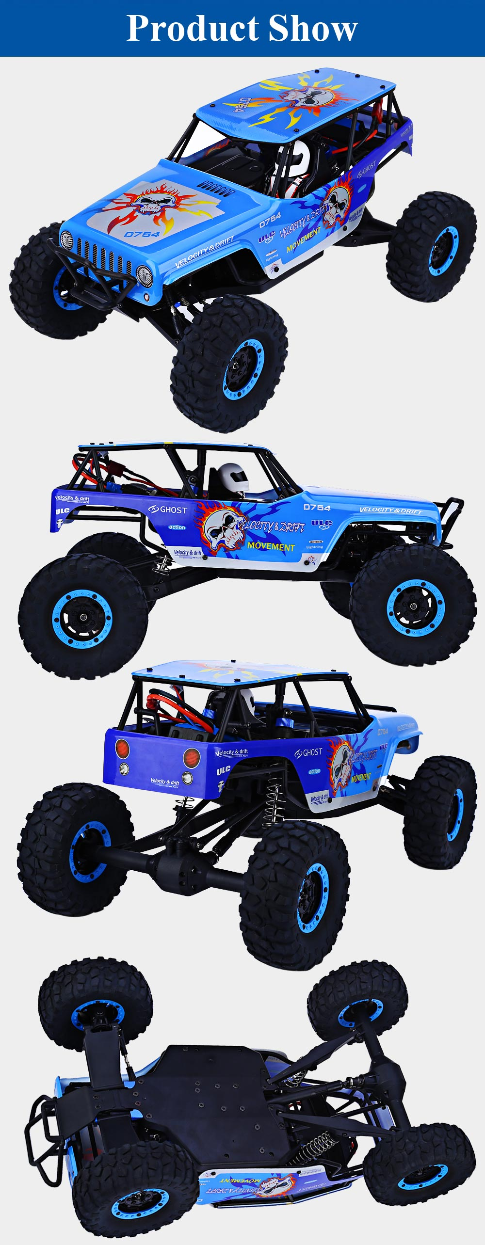 WLtoys 10428A 2.4G 1:10 Scale Remote Control Track Vehicle Toy