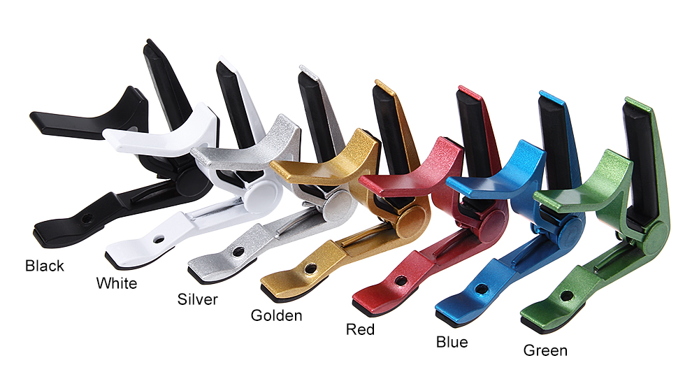 Light Metal Jaw Capo for Electric and Acoustic Guitar
